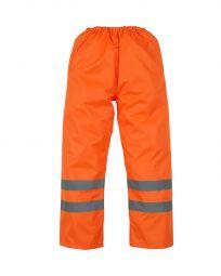Hi-Vis Waterproof Contractors Trousers