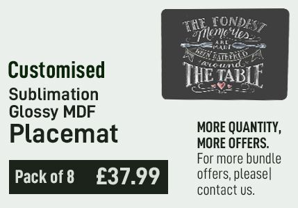 Customised Glossy MDF Placemat (Pack of 8)